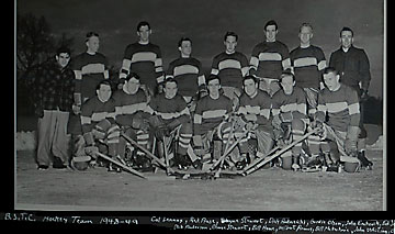 BSC Hockey Team. Eric 2nd row, right side
